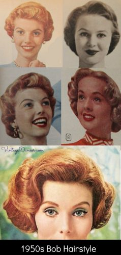 1950s bob or bobbed hairstyles - short, curly fun!