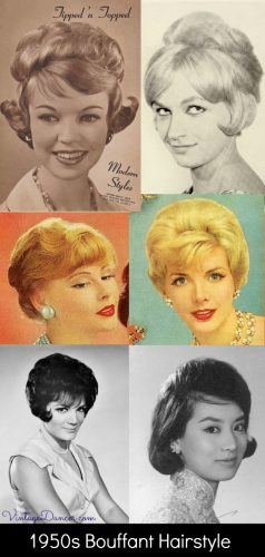 1950s Bouffant hairstyles - 1958 to 1961