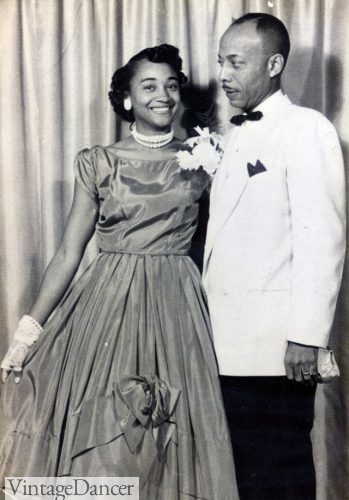 Early 1950s debutant ball and father white tuxedo jacket