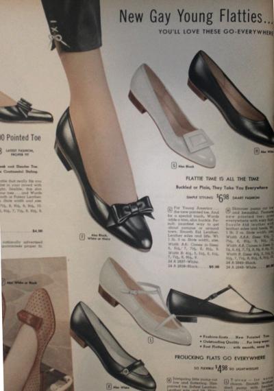 1950s flat shoes flatties retro