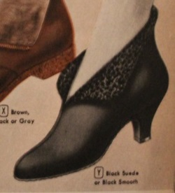 1950s Thin heel booties