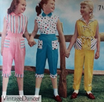 1950s girls play clothes, casual outfits