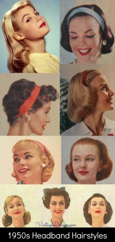 1950s Hairstyles with Headbands
