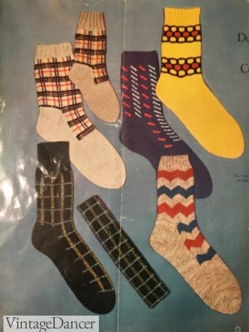 1950s sock patterns for home knitters