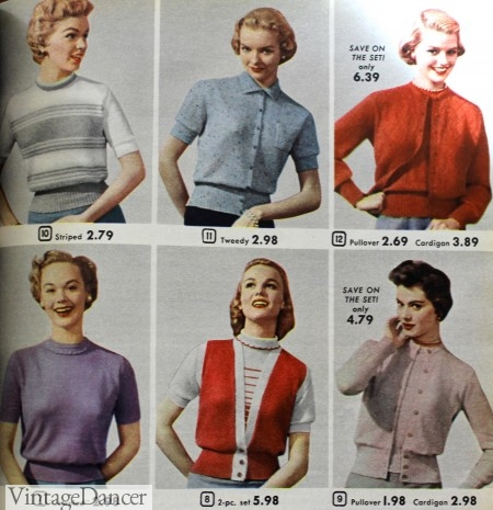 1950s knit tops sweaters