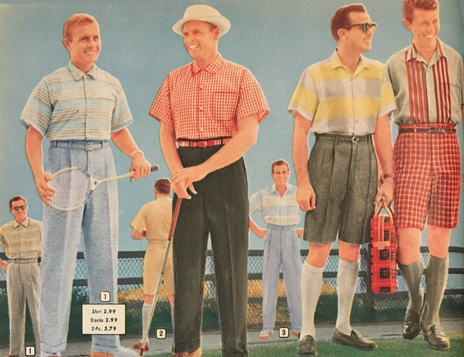 Men's 1950s Casual Clothing History