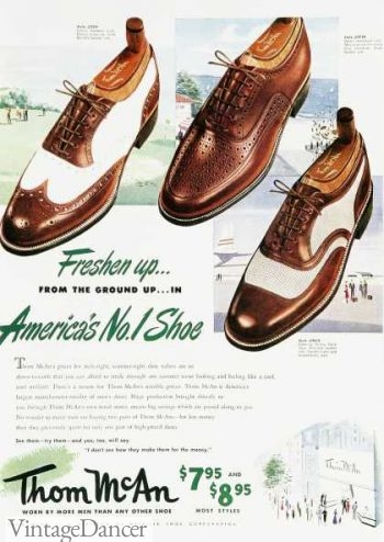 1950s mens two tone shoes