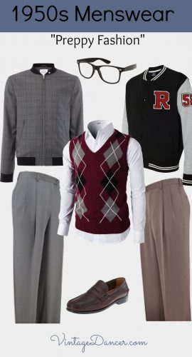 """Men's 1950s Ivy League """"Preppy"""" and """"Sporty"""" Looks"""