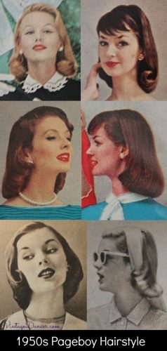 1950s pageboy hairstyles for medium length hair
