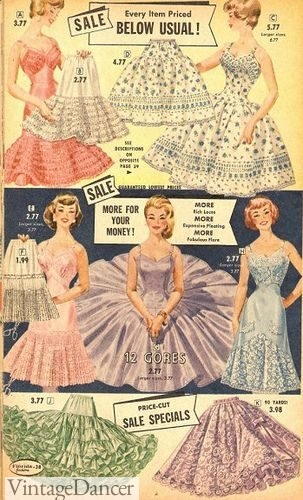Very full 50s crinolines