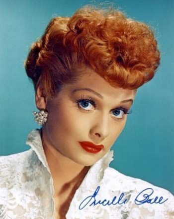 Lucile Ball's poodle clip and dyed red hair