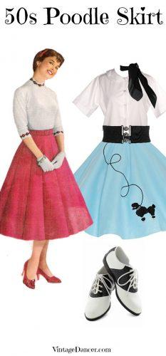 Brand New Flirty 50s Poodle Skirt Adult Costume