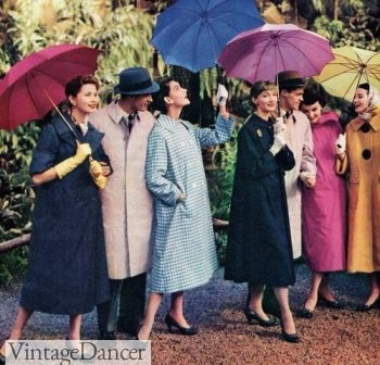 Late 1950s straight or tent shaped raincoats