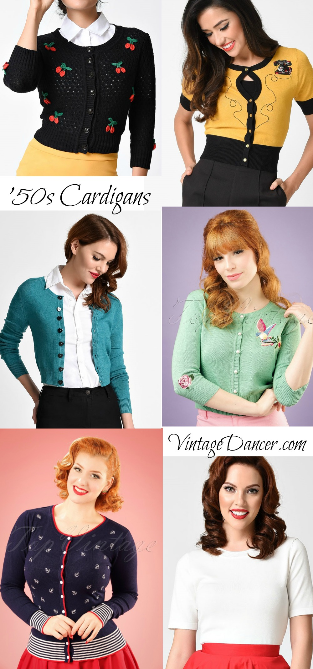 1950s Sweaters 50s Cardigans 50s Jumpers