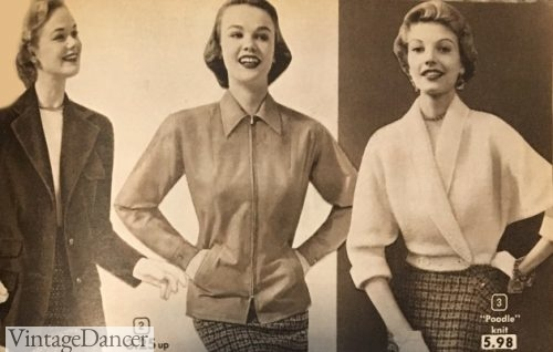 1950s Short casual jackets - Western, motorcycle, wrap dolman