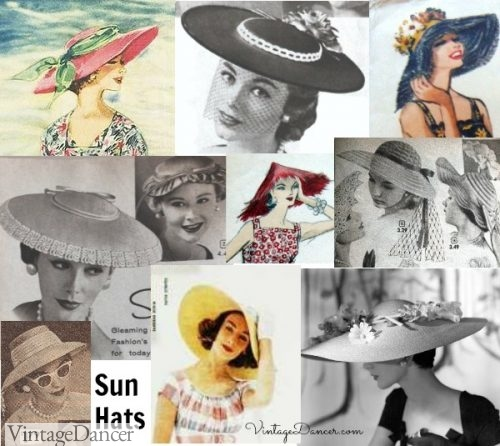 1950s sun hats summer hats vintagedancer com