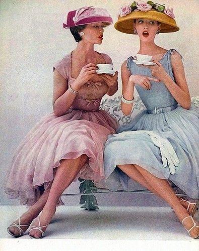 1950s tea hats and dresses