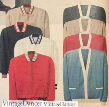 1959 gab jackets and cardigans with contrast trim