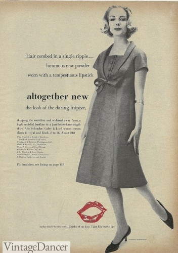 1950s Trapeze dress ad