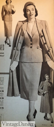 1951 womens suit and coat outfit