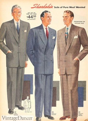 1951 men's sharkskin suits