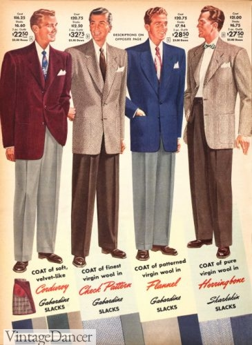 1951 plain sport coats or mix and match suits