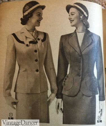 1952 womens suits