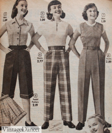 1952 shorts and pants with summer tops