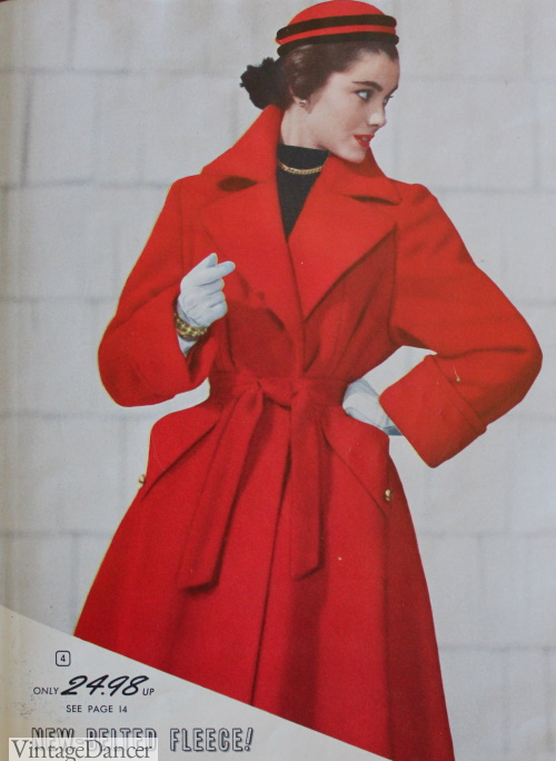 "1953 Trench Coat also called Princess Coat with Belt and full ""skirt"""