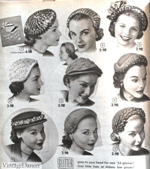 1953 Small fancy hats