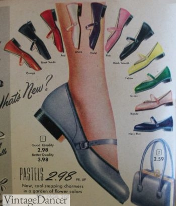 1953 Mary Jane Shoes with low heels