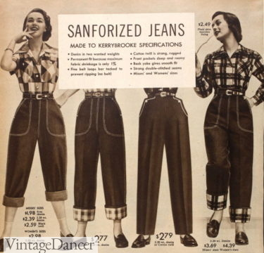 1953 blue jeans and western pants