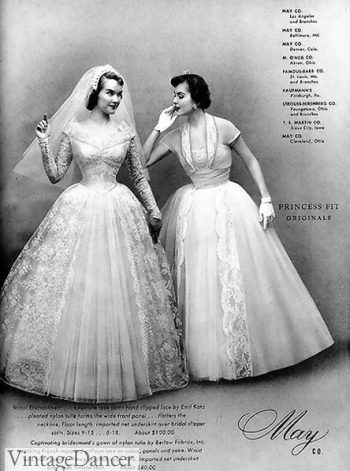 real 1950s wedding dresses