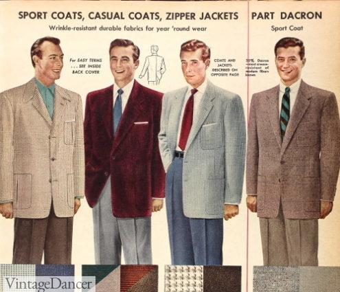 1954 men's fall sport coats