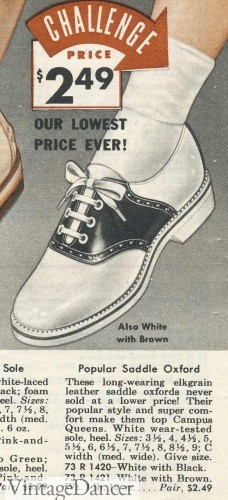 1950s saddle shoes crepe shoes