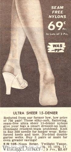 1950s seamless stockings