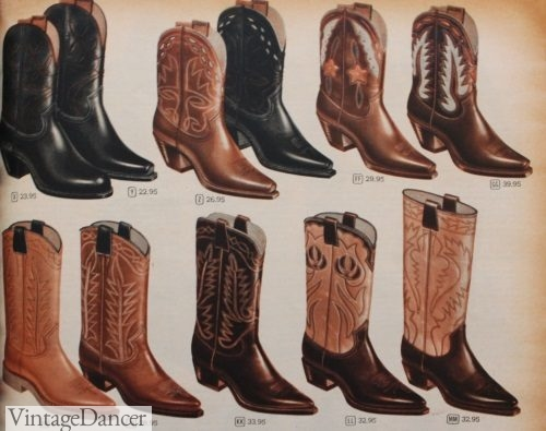 1950s mens western boots, cowboy boots