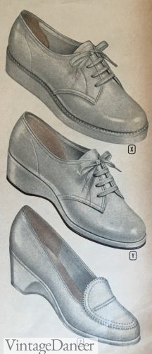 1950s nurse shoes or casual everyday shoes