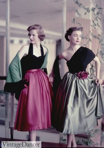 1955 short evening dresses