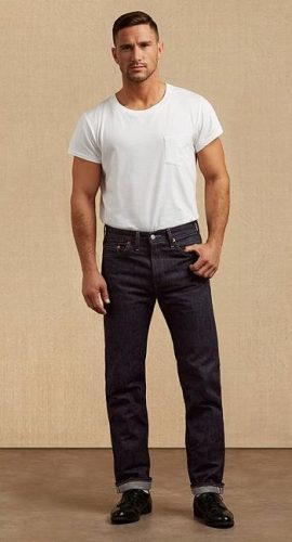 1955 Men's Levi's reproduction jeans and T shirts