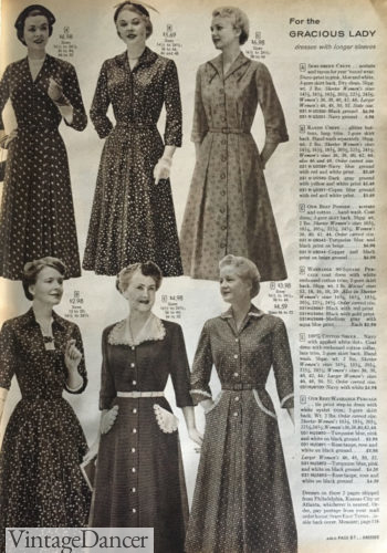 1957 dresses for the Gracious Lady