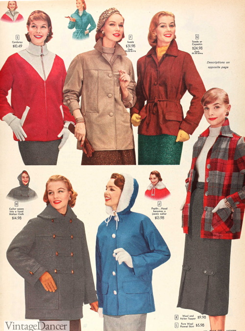 1956 winter casual jackets