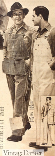 1956 men's overalls, with apron pocket