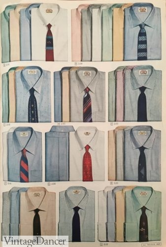 1950s mens dress shirt colors and styles 1956
