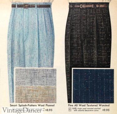 1956 splash and fleck patterns pants trousers slacks