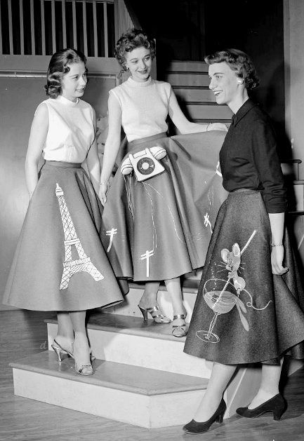 50s Skirt Styles Poodle Skirts Circle Skirts Pencil Skirts