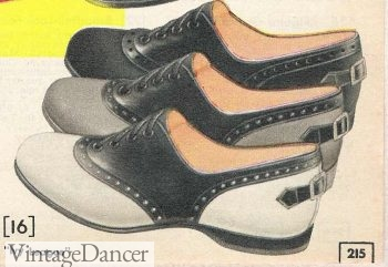 1950s style shoes - the black and whiate saddle shoes was worn bye very teenager