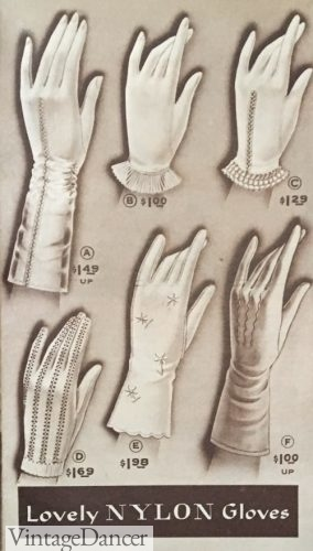 1957, nylon gloves for summer