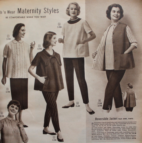 1957 Wards maternity casual pants tops 500