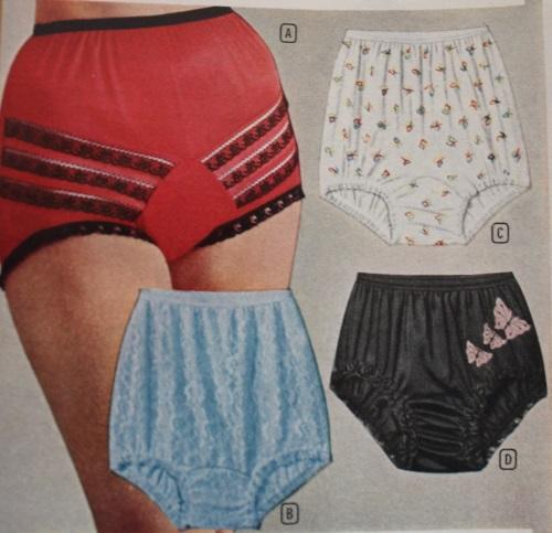 1950s underwear panties, 1957